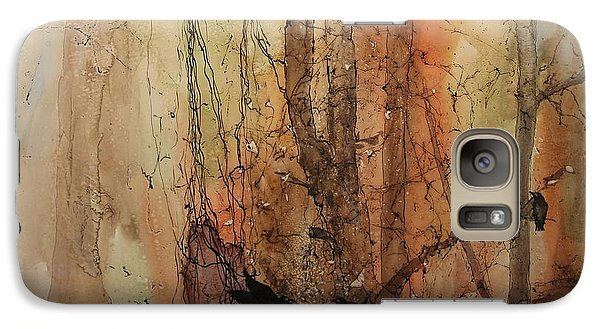 Galaxy Case featuring the painting On The Verge by Elizabeth Carr