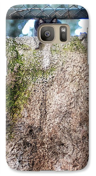 Galaxy Case featuring the photograph On The Wall by Laura Melis