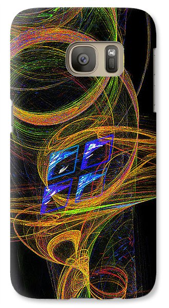 Galaxy Case featuring the digital art On The Way To Oz by Victoria Harrington