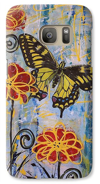 Galaxy Case featuring the painting On The Wings Of A Dream by Jane Chesnut