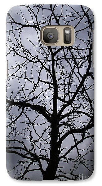 Galaxy Case featuring the photograph On Their Shoulders Held The Sky by Linda Shafer