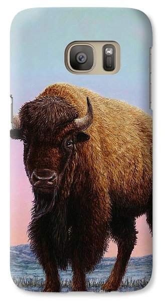 Buffalo Galaxy S7 Case - On Thin Ice by James W Johnson
