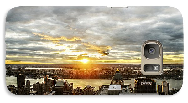 Galaxy Case featuring the photograph On Top Of The World  by Anthony Fields