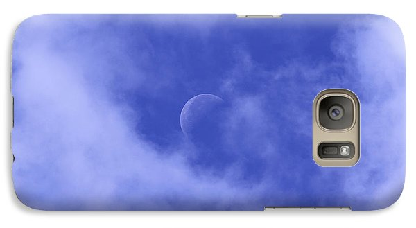 Galaxy Case featuring the photograph Once In A Blue Moon by Judy Whitton