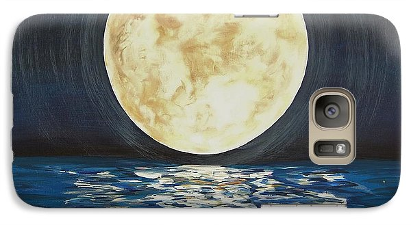 Galaxy Case featuring the painting Once In A Very Blue Moon by Cindy Micklos
