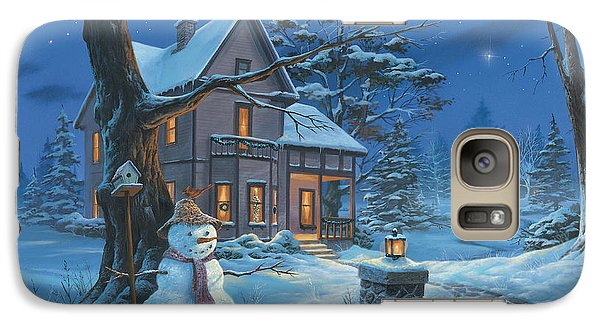 Galaxy Case featuring the painting Once Upon A Winter's Night by Michael Humphries