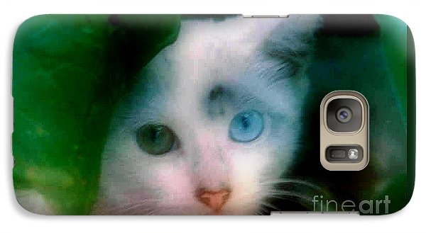 Galaxy Case featuring the photograph One Blue One Green  by Michael Hoard