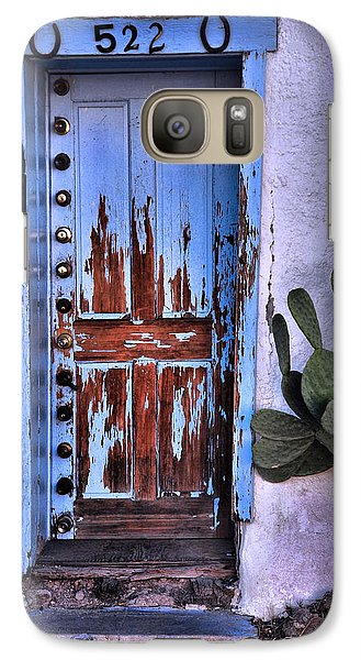 Galaxy Case featuring the photograph One Can Never Feel Too Safe by Barbara Manis