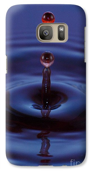 Galaxy Case featuring the photograph One Drop One Splash by Patrick Shupert