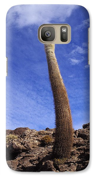 Galaxy Case featuring the photograph One Enormous Cactus by Lana Enderle