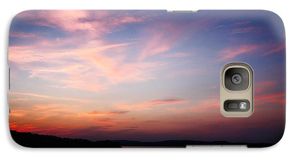 Galaxy Case featuring the photograph One Fine Sunset by Polly Peacock