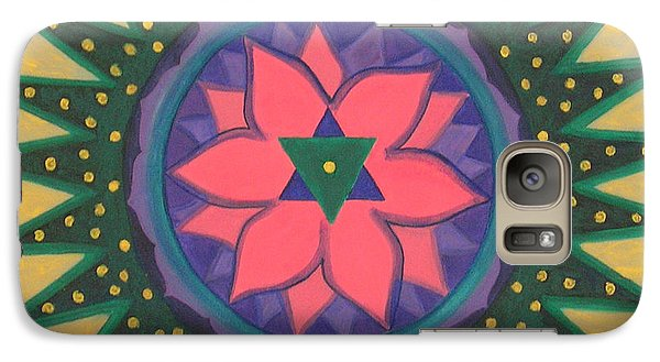 Galaxy Case featuring the painting One Gold Bindu by Mini Arora
