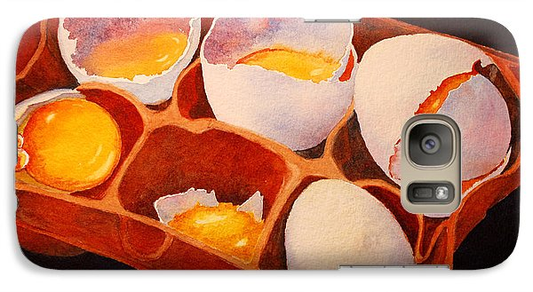 Galaxy Case featuring the painting One Good Egg by Roger Rockefeller