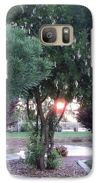 Galaxy Case featuring the photograph One Last Moment by Carla Carson