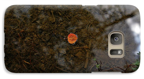 Galaxy Case featuring the photograph One Leaf by Jeremy Rhoades