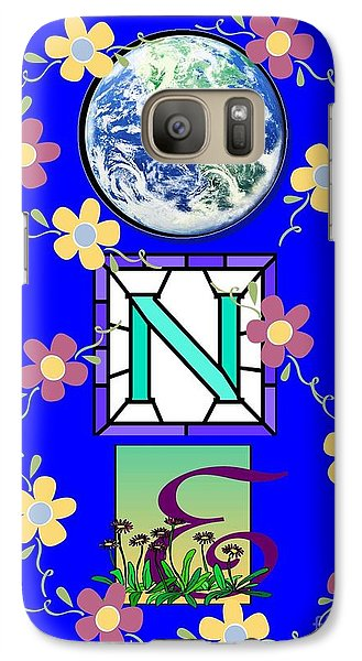 Galaxy Case featuring the digital art Universal One-ness by Bobbee Rickard