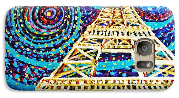 Galaxy Case featuring the painting One Night In Paris by Cheryl Del Toro