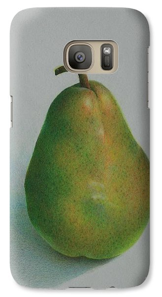 Galaxy Case featuring the painting One Of A Pear by Pamela Clements