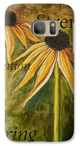 Galaxy Case featuring the painting One Step At A Time by Lisa Fiedler Jaworski