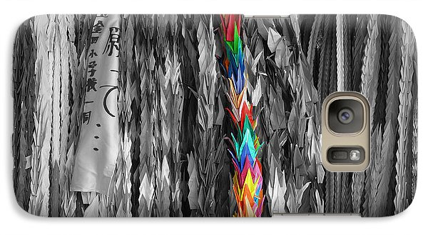 Galaxy Case featuring the photograph One Thousand Paper Cranes by Cassandra Buckley