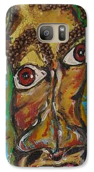 Galaxy Case featuring the painting One Too Many by Lucy Matta
