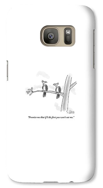 Vulture Galaxy S7 Case - One Vulture Speaks To Another On A Tree Branch by Sam Gross