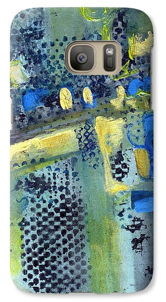 Galaxy Case featuring the painting One World by Betty Pieper