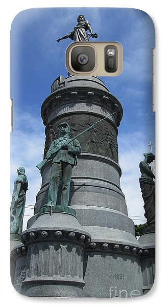 Galaxy Case featuring the photograph Oneida Square Civil War Monument by Peter Gumaer Ogden