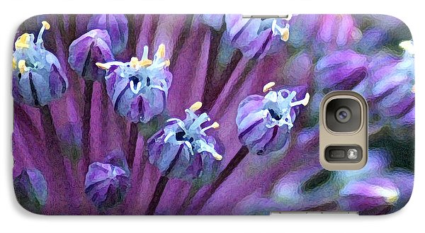 Galaxy Case featuring the photograph Onion Bloom by Kjirsten Collier