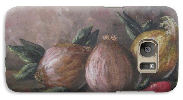 Galaxy Case featuring the painting Onions And Peppers by Megan Walsh