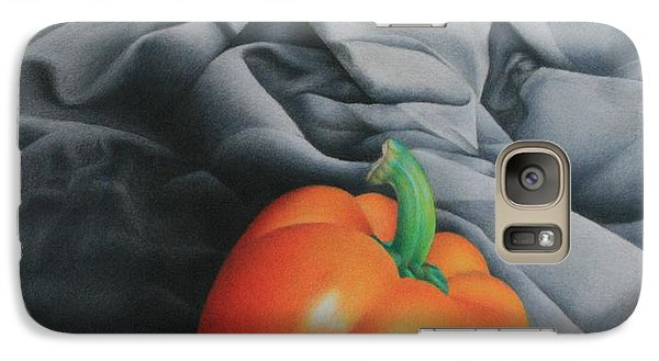 Galaxy Case featuring the painting Only Orange by Pamela Clements