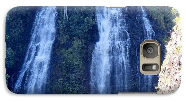 Galaxy Case featuring the photograph Opaeka'a Falls by Alohi Fujimoto