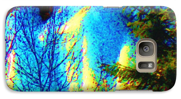 Galaxy Case featuring the photograph Opalescent Ice Wall El Valle Nm by Anastasia Savage Ealy