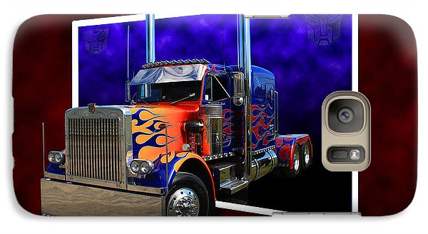Galaxy Case featuring the photograph Optimus Prime Peterbilt by Keith Hawley