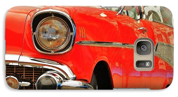 Galaxy Case featuring the photograph Orange 57' Chevy by Al Fritz
