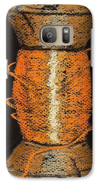 Galaxy Case featuring the drawing Orange 6 by Joseph Hawkins
