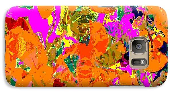 Galaxy Case featuring the digital art Orange Abstract by Barbara Moignard