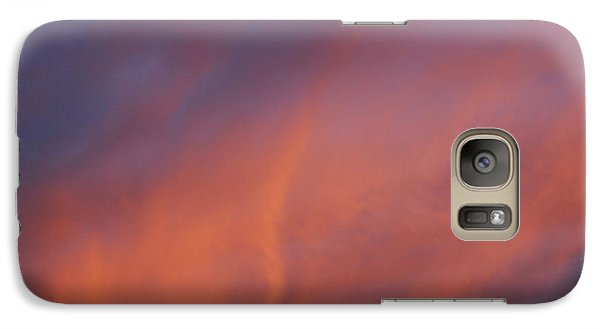 Galaxy Case featuring the photograph Orange And Blue Sunset by Ramona Whiteaker