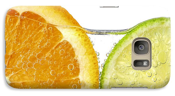 Galaxy Case featuring the photograph Orange And Lime Slices In Water by Elena Elisseeva