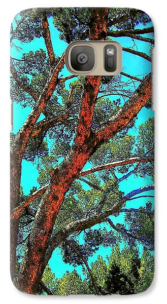 Galaxy Case featuring the photograph Orange And Turquoise  by Jodie Marie Anne Richardson Traugott          aka jm-ART