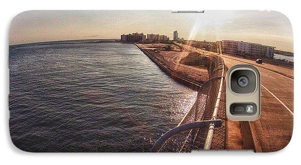 Galaxy Case featuring the digital art Orange Beach From Perdido Bridge by Michael Thomas