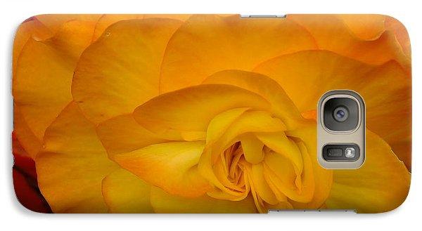Galaxy Case featuring the photograph Orange Begonia by Gene Cyr