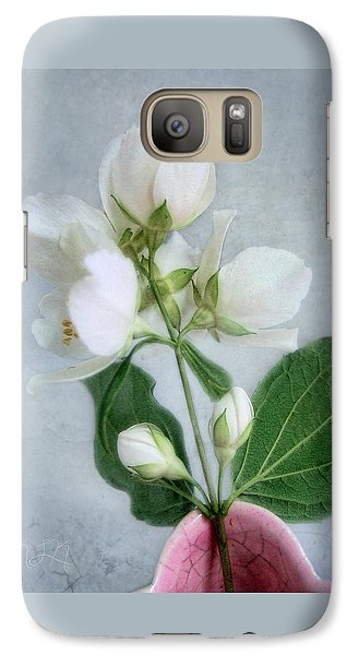 Galaxy Case featuring the photograph Orange Blossom Time by Louise Kumpf