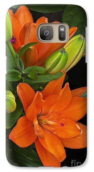 Galaxy Case featuring the photograph Orange Burst by Robert Pilkington