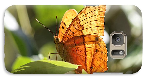 Galaxy Case featuring the photograph Orange Butterfly by Jola Martysz