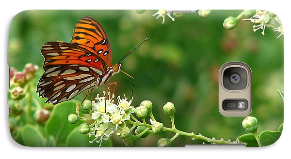 Galaxy Case featuring the photograph Orange Butterfly by Marcia Socolik