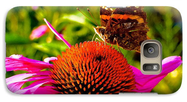 Galaxy Case featuring the photograph Orange Butterfly  by Sarah Mullin