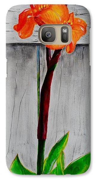 Galaxy Case featuring the painting Orange Canna Lily by Melvin Turner