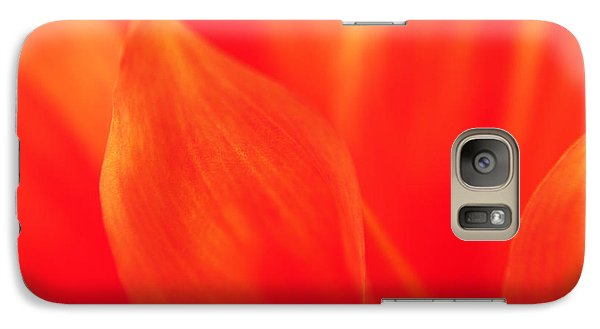 Galaxy Case featuring the photograph Orange Dahlia Abstract by Olivia Hardwicke