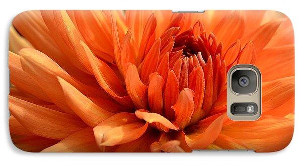 Orange Dahlia Galaxy S7 Case
